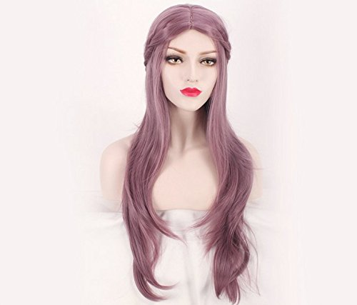 [J.C Wig 40inch Women Ladies In On Hair Extensions Light Purple Taro Gradient Color Wig] (Full Bobby Light Costume)