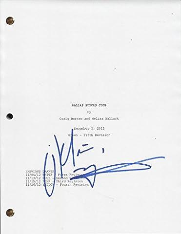 Matthew McConaughey Signed Script Screenplay Dallas Buyers Club (Dallas Buyers Club Screenplay)