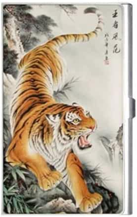 Chinese Tiger Painting Business Card Holder