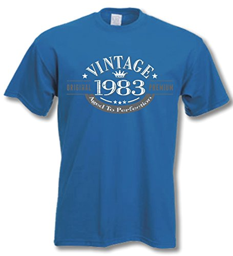 My Generation Gifts 1983 Vintage Year - 35th Birthday Gift Present T-Shirt Mens Royal Blue - Generation Wholesale Blue