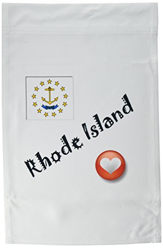 3dRose fl_7207_1 I Love Rhode Island Garden Flag, 12 by 18-Inch