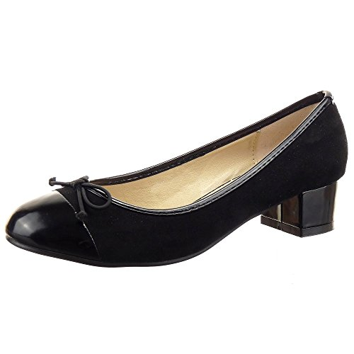 Sopily - damen Mode Schuhe Ballerina Dekollete fliege - Schwarz