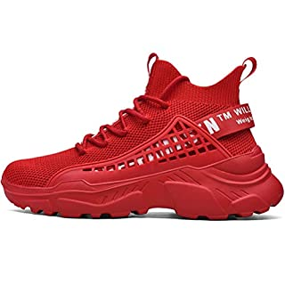 XIDISO Mens Fashion Sports Shoe Athletic Walking Shoes Casual Sneakers Red