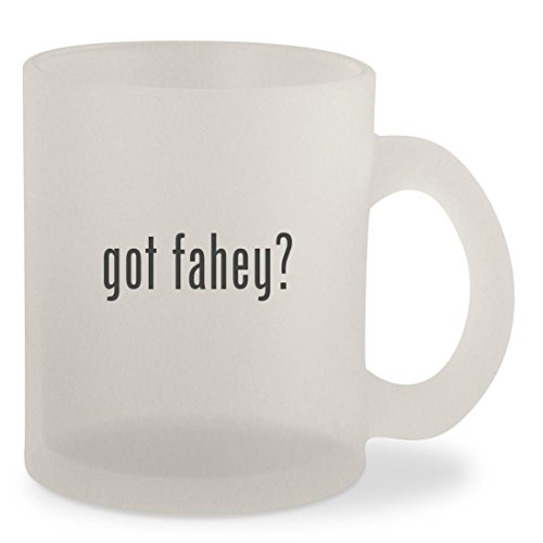 got fahey? - Frosted 10oz Glass Coffee Cup - Claire Marie Glasses