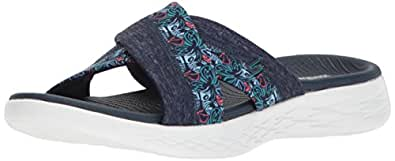 Skechers Women's ON-The-GO 600 - Monarch Sandal, Navy, 5 US