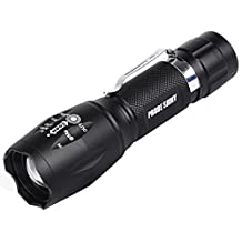 Compia-PROBE SHINY T6 Re-chargeable 6000 Lumens 5 Modes Shadowhawk Super Brigh Flashlight Torch(Battry Not Include) (Flashlight)