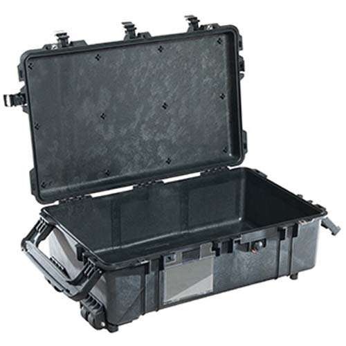 Pelican 1670 Large Case without Foam, 7.39'' Bottom Depth, Black by Pelican