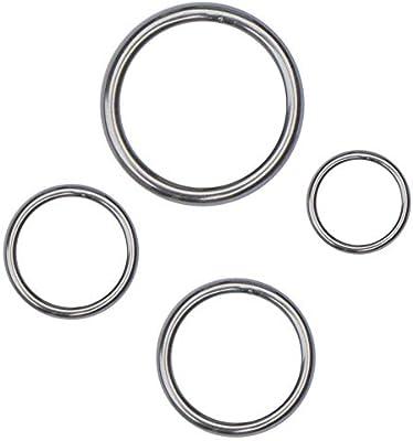 STAINLESS STEEL O-Rings WELDED Buckles ~ DIY Webbing Leather Craft ~ HEAVY DUTY