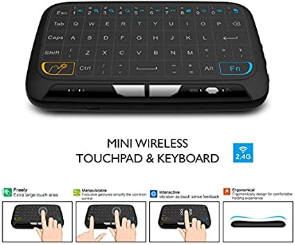 Color: H18 Calvas Runsnail Mini H18 Wireless Keyboard 2.4 G Portable Keyboard With Touchpad Mouse for Windows Android//Smart TV Linux Windows Mac