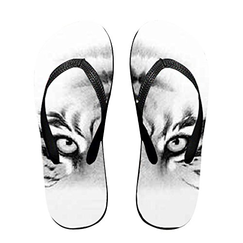 Tigers Eyes - Flip Flops, Funny Thong Sandals, Beach Sandals - for Women & Men