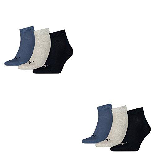 Puma Invisible 3P, Calza Sneaker Unisex – Adulto Blu - blau_grau_dunkelblau