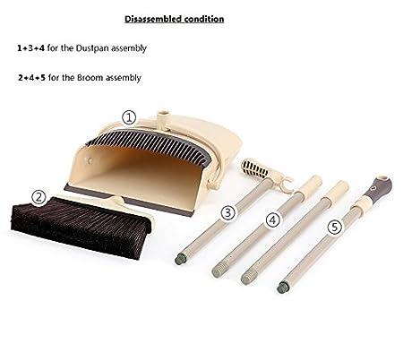 Vest/íbulo combinar /ángulo escoba escoba y recogedor plegable oficina y casa barrido uso
