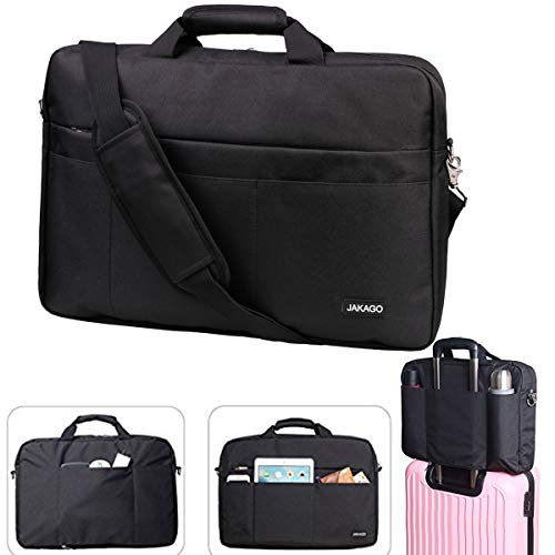 JAKAGO 17.3 Inch Computer Bags Waterproof Messenger Bag Multi-Compartment Business Briefcase Shockproof Laptop Case for Tablet, Notebook,13