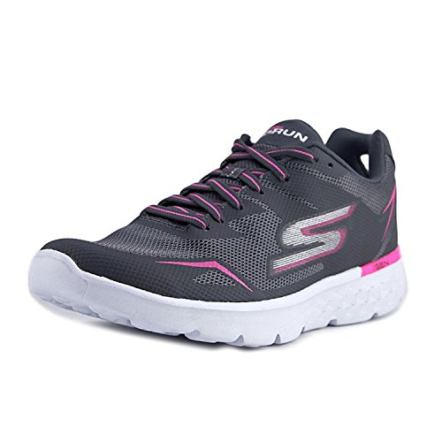 Skechers Go Run 400-Obstruct Charcoal/Pink Womens Running Size 9.5M