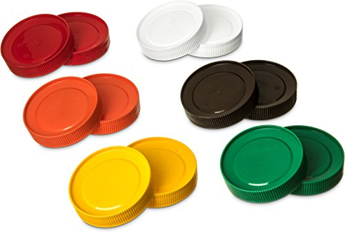 Carlisle PS304AT00 Stor N' Pour Assorted Caps, Assorted (Pack of 12) Carlisle Lid