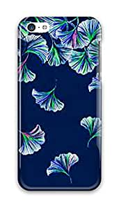 Beauty Design Lily Pulitzer Kingko Leaves Back Hard Case Cover for iPhone 5C