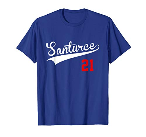 (Santurce 21 T-Shirt - Vintage Puerto Rico Baseball Shirt)
