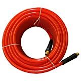 Interstate Pneumatics HA36-025 Translucent Red PVC Hose 3/8 Inch 25 Feet 300 PSI 4:1 Safety Factor