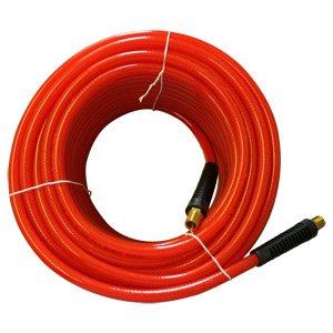 Interstate Pneumatics HA36-025 Translucent Red PVC Hose 3/8 Inch 25 Feet 300 PSI 4:1 Safety Factor