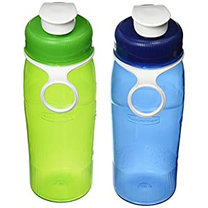 Rubbermaid Refill Reuse, 2 Pack, 20 oz, Chug Bottle Green/Blue