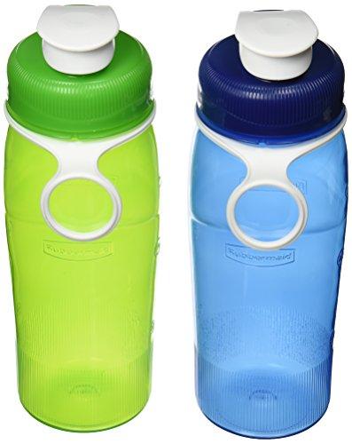 Rubbermaid Refill Reuse, 2 Pack, 32 oz, Chug Bottle Green/Blue