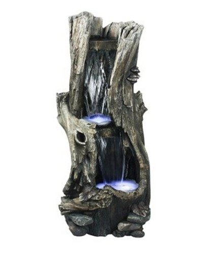 Lg Resin Tree - Hi-Line Gift Ltd Tree Trunk Waterfall Fountain with LED Light