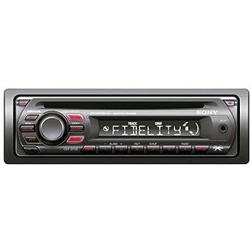 Sony CDX-GT23U CD TUNER Negro receptor multimedia para coche - Radio para coche (