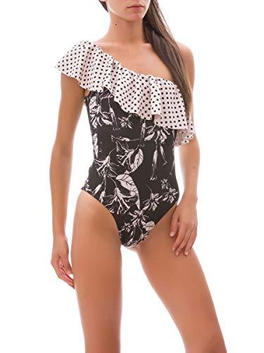 Catalina Costume F Nero Monospalla K k Fk19 g307 Mare f Volant Monokini Donna Collezione tSgqv