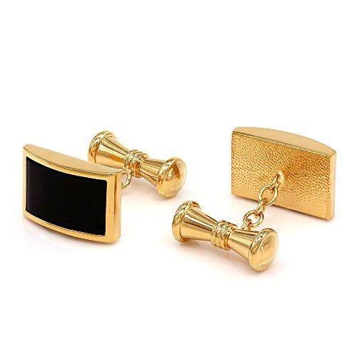 Kemstone Gold Tone Black Onyx Shirt Cufflinks