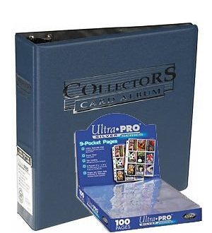 Ultra Pro 3-Ring Collectors Album Blue + 100 9-Pocket Silver Pages - Magic: The Gathering - Yu-Gi-Oh! 84268