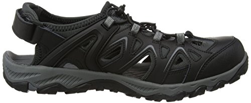 Karrimor Mens Auckland Leather Lycra Dynagrip Walking Sandals Negro (Black)