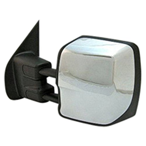GetAllParts New Driver Side Left Heated Power Door Mirror Assembly, Tow Mirror (Mirror Power Assembly)