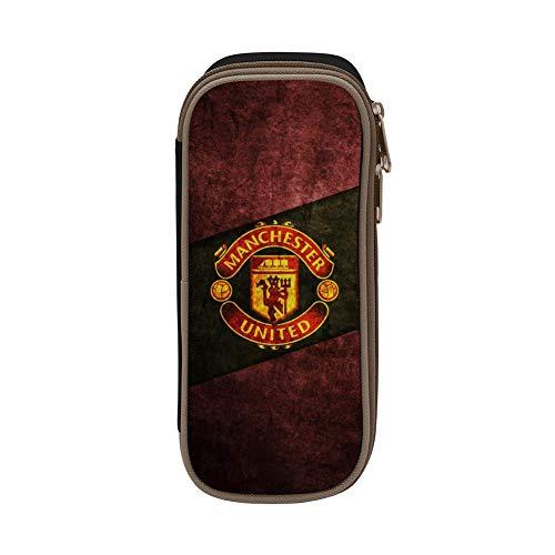 GIGIBO Manchester United Restoring Ancient Students Canvas Pencil Case Durable Zipper Pen Bag Black