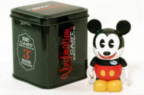 "Disney Vinylmation Mickey Mouse Cast Member Exclusive 3"" Figure with Tin"