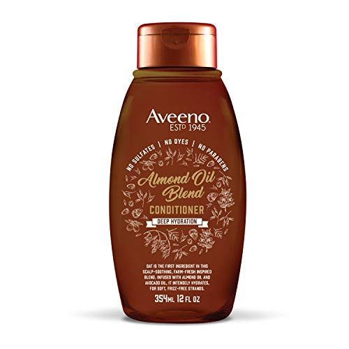 Aveeno Scalp Soothing Almond Oil Blend Conditioner for Deep Hydration, Sulfate Free Conditioner, No Dyes or Parabens, 12 fl. oz