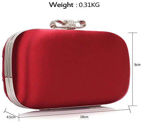 Satin Evening 1 Ladies Shoulder Bag Clutch Party Bags Red Women Bridal Handbag Bridesmaid Box Designer Design TtYqn60