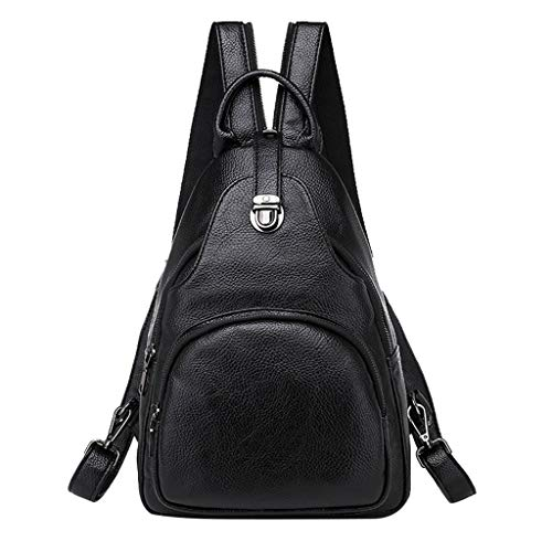 UMFun Women's Fashion Backpack Waterproof Bag Anti-Theft Shoulder Bag Leisure Black]()