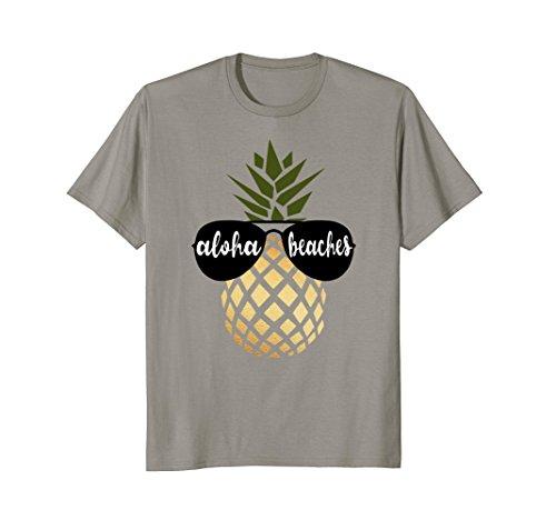 (Aloha Beaches Pineapple Hawaiian Gold Bachelorette Shirt)