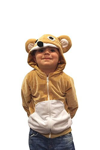Halloween Costumes Kids Bear Costume Bear Hoodie Boys Sweatshirt Cub Costume (4-6yrs) (Smokey The Bear Costume)