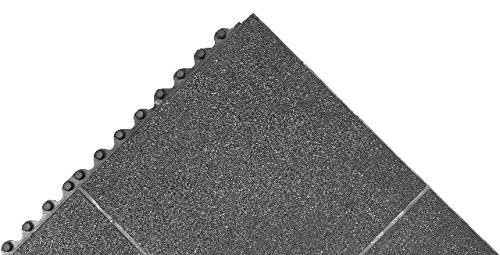 - NoTrax Akro Cushion-Connect Anti-Fatigue/Anti-Slip Classic Solid Floor Mat, 3' x 3', Black