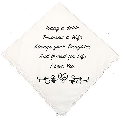 Mother/Father of The Bride Wedding Handkerchief by Wedding Tokens- Wedding Keepsake