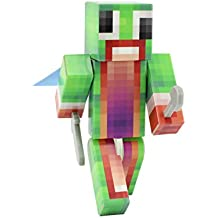 Green Big Mouth Guy Action Figure Toy, 4 Inch Custom Series Figurines by EnderToys [Not an official Minecraft product]
