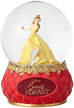 Enesco Disney Showcase Beauty and The Beast, 5.5 Stone Resin and Glass Waterball