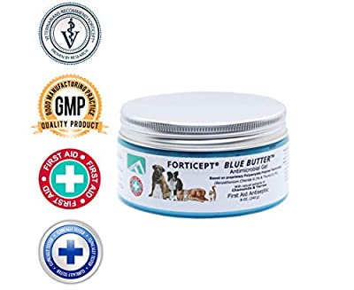 Forticept Blue Butter Antimicrobial Gel, Antiseptic Hydrogel Wound Treatment, Dogs & Cats for Hot Spots, Pyoderma, Skin Infections, Rashes, Sores, Wounds, Burns | 8 OZ