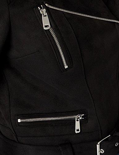 Biker 1 Negro Fringe Mujer Chaqueta New Look Suedette para Black qSP77w