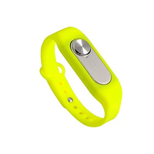 Jrelecs® 8GB Wearable Wristband Pen Wristband Voice Recorder (yellow)