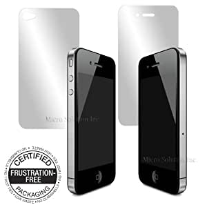Micro Solution Pro Guard TL (Tough Layer), Crack-Resistant, Light-Weight, Crystal Clear and Glossy, Anti-Fingerprint, Super Hydrophobic, HD Display Protection Film for Apple iPhone 4S and iPhone 4 // PGTL-IPH4