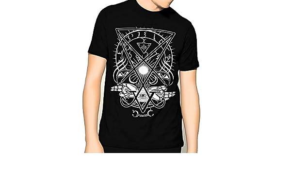 Satanic Luciferian Awakened Luciferian Occult Premium Mens Graphic T-Shirt graceful shop Sigil of Lucifer