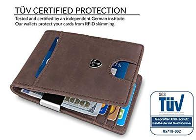 "TRAVANDO Money Clip Wallet""RIO"" Mens Wallet Front Pocket Wallet Slim Wallet RFID Blocking | Credit Card Holder | Minimalist Mini Bifold Gifts for Men"