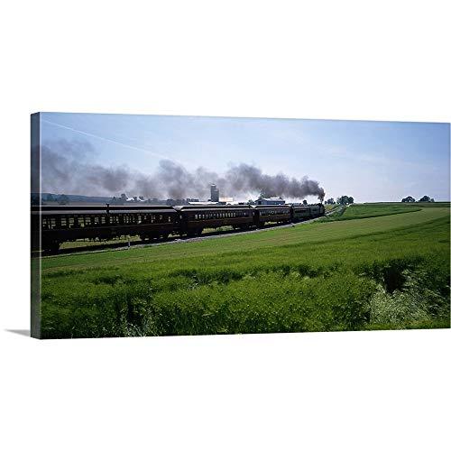 (GREATBIGCANVAS Gallery-Wrapped Canvas Entitled Strasburg Railroad Strasburg PA by 60